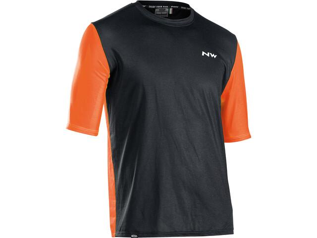 Northwave Xtrail Short Sleeve Jersey Men, negro/naranja